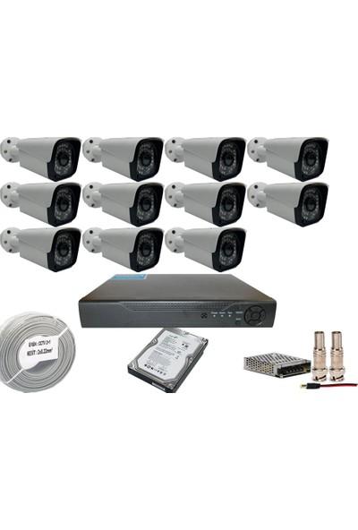 Promise 11 Kameralı Set 3 Mp Ahd Sistem 1080P Gece Görüşlü Kamera Sistemi Harddisk Dahil
