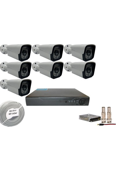 Promise 7 Kameralı Set 3 Mp Ahd Sistem 1080P Gece Görüşlü Kamera Sistemi