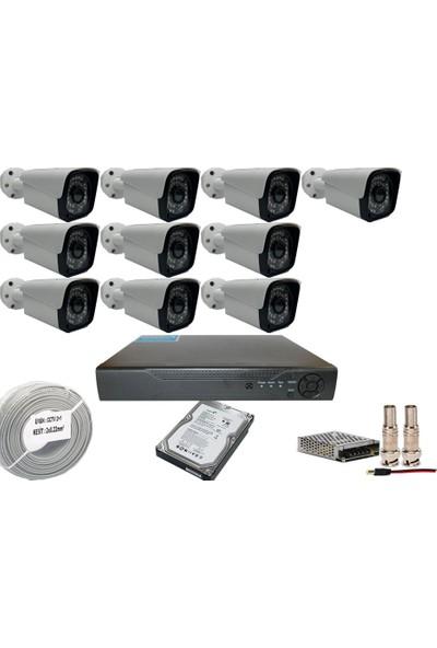 Promise 10 Kameralı Set 3 Mp Ahd Sistem 1080P Gece Görüşlü Kamera Sistemi Harddisk Dahil