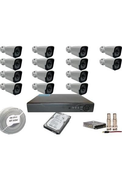 Promise 14 Kameralı Set 3 Mp Ahd Sistem 1080P Gece Görüşlü Kamera Sistemi Harddisk Dahil