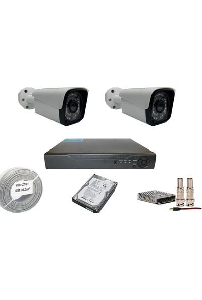 Promise 2 Kameralı Set 3 Mp Ahd Sistem 1080P Gece Görüşlü Kamera Sistemi Harddisk Dahil