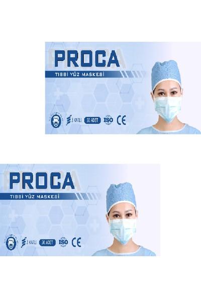 Proca Tek Kullanımlık 3 Katlı Telli Cerrahi Maske 50'li 2 Adet