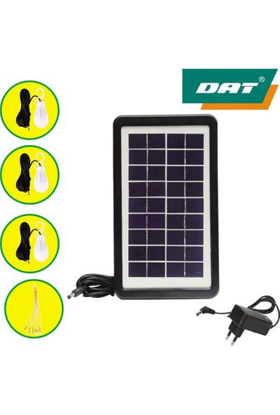 Dat DAT-9011 Güneş Enerjili Solar Şarjlı Çadır Kamp Aydınlatma Fener Seti