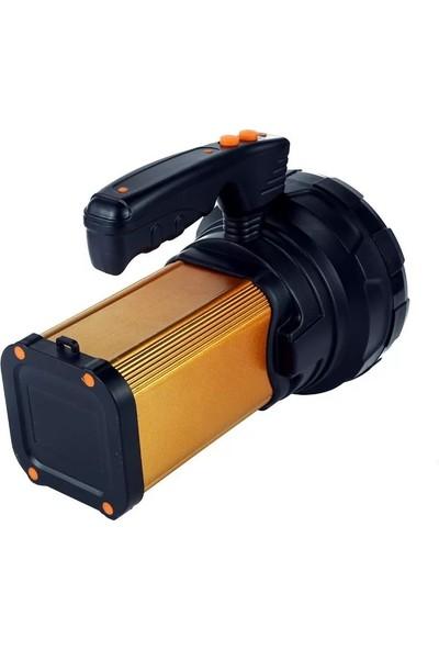 Gold Silver Silver Toss ST-8200L 25W Şarj Edilebilir Ledli El Feneri USB Çıkışlı