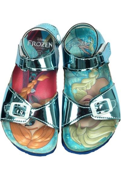 Frozen Elsa Kız Çocuk Turkuaz Sandalet