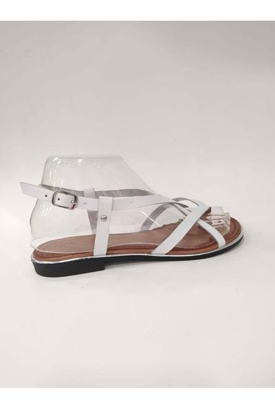 Bablisok İnce Taban Parmak Arası Deri Sandalet