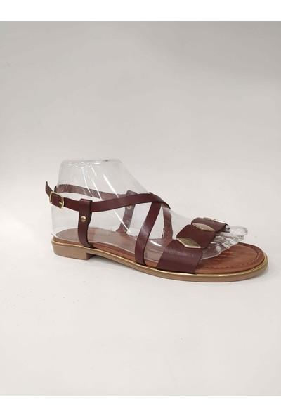 Bablisok Mona-6 İnce Taban Tek Bant Deri Sandalet