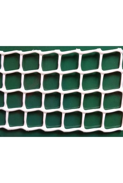 Intermas 170607 C-114 Beyaz 1x25 m 10x10 mm UV Filtreli Yüksek Dayanıklı Plastik Çevirme Çiti (HDPE)