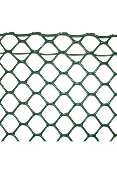 Intermas 170637 HEXA mAS Yeşil 1x25 m 20x20 mm UV Filtreli Yüksek Dayanıklı Plastik Çevirme Çiti (HDPE)