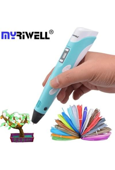 Myriwell Üç Boyutlu Yazıcı Kalem 3D Kalem 3D Pen Pla ve Parmak Koruyucu