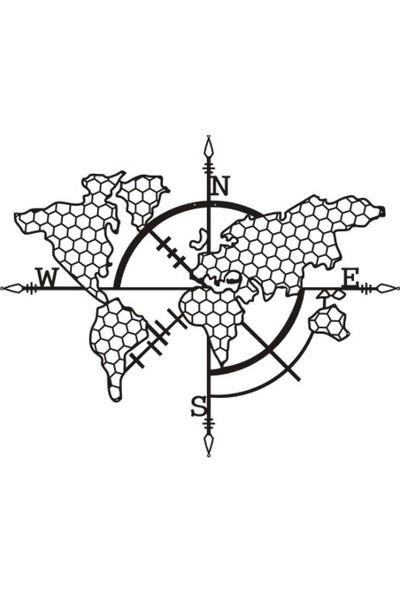 Dekorx Dünya Haritası Petek 90x67cm