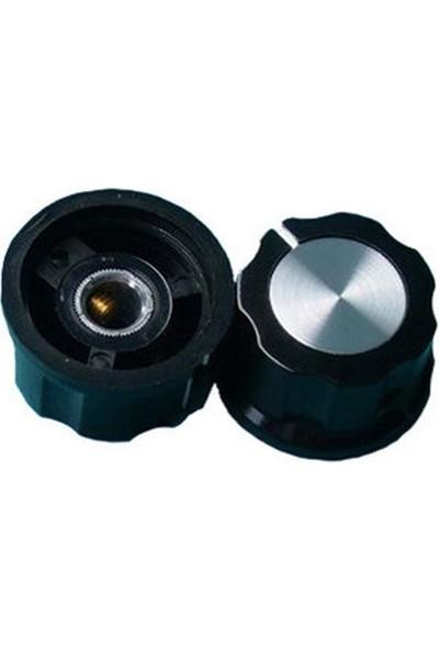 Emay MF-A04 Potansiyometre Başlığı Siyah Düğme Buton Başlık