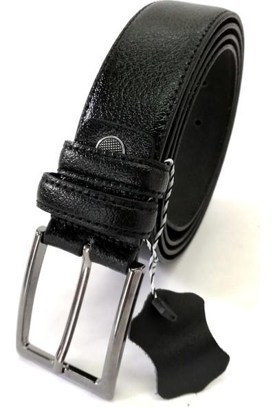 Cascades Leather Hakiki Deri Erkek Kumaş Pantolon Kemeri - Siyah