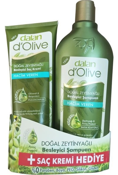 Dalan Dolive Hacim Veren Şampuan 600 ml + Saç Kremi
