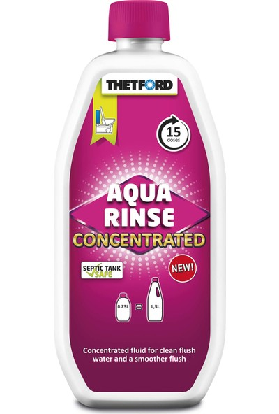 Thetford Concentrated Aqua Rinse Temiz Su Tankı Temizleyici Kimyasa 750ML