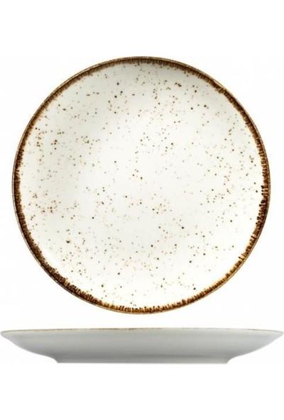 Kütahya Porselen Atlantis Corendon 23 cm Düz Tabak Krem