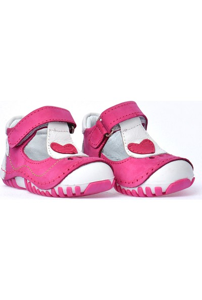 Kiko Kids Teo 103 Deri Cırtlı Kız Çocuk Ayakkabı