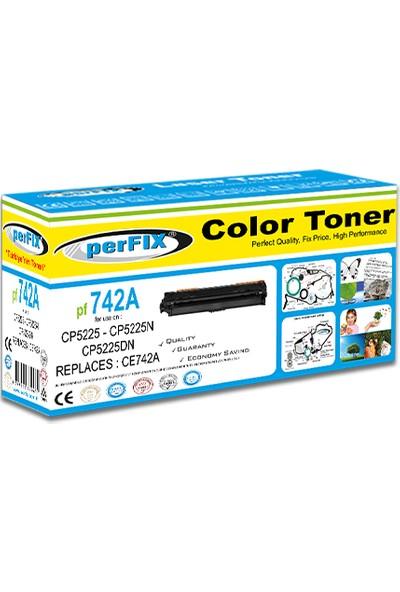 Perfıx Pf 742A - 307A - 6000 Sayfa Sarı Muadil Toner