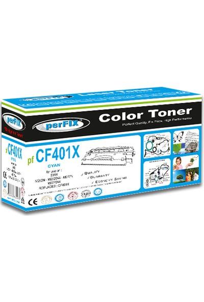 Perfıx Pf CF401X 201X - 2300 Sayfa Mavi Muadil Toner