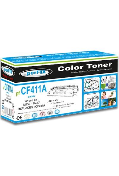 Perfıx Pf CF411A ( 410A ) - 2300 Sayfa Mavi Muadil Toner