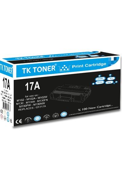 TK Toner 17A - Chipli - CF217A 1000 Sayfa Siyah Muadil Toner
