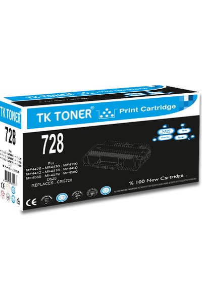 TK Toner 728 1600 Sayfa Siyah Muadil Toner
