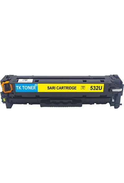TK Toner Toneer 532U - CE412A - CC532A - CF382A 2800 Sayfa Sarı Muadil Toner