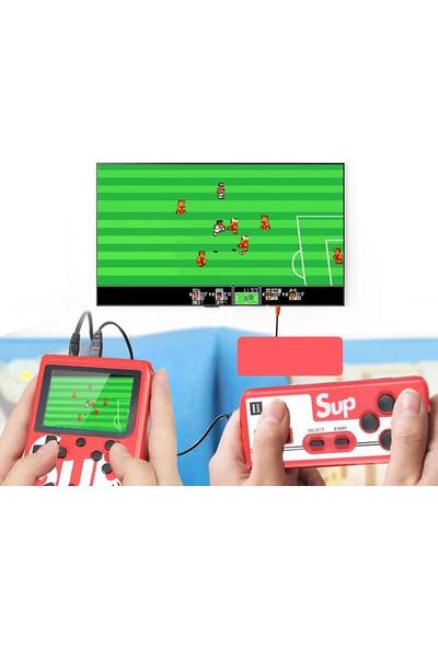 """Sup Taşınabilir Video Oyun Konsolu 3"""" 400 Oyunlu Mini Atari Gameboy 2 Oyunculu Kırmızı"""