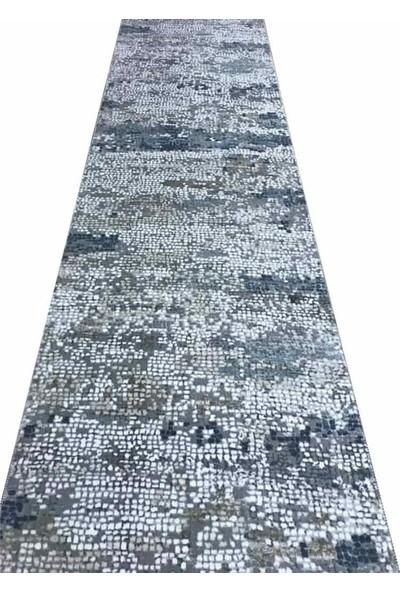 Aksu Halı Burçe Mavi Kaymaz Taban Jel Yolluk 100 x 100 cm