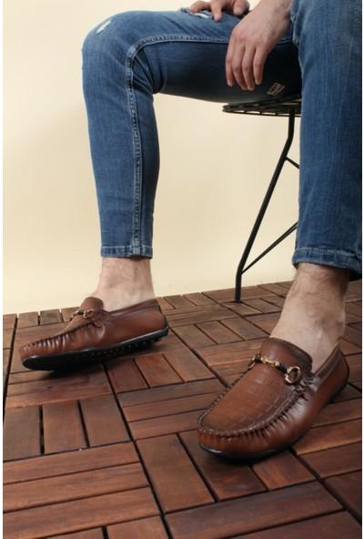 Oksit Dkr Premium Croco Erkek Loafer Ayakkabı