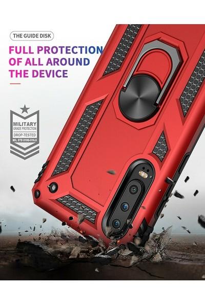 Teleplus Huawei P Smart Pro Kılıf Vega Yüzüklü Tank Kapak Lacivert