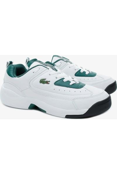 Lacoste V-Ultra Og 120 1 Sma Erkek Beyaz Deri Sneaker 739SMA0086.2D2