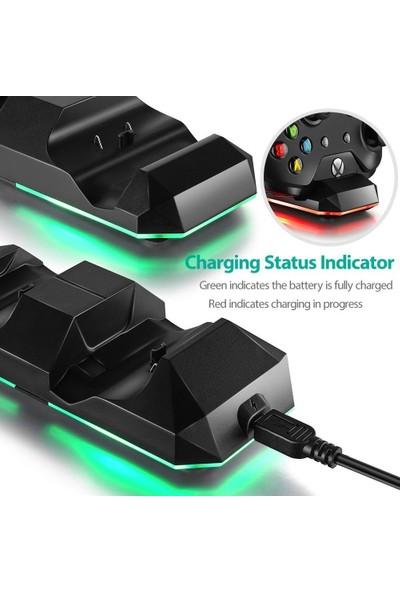 Xbox One Xbox One S Dual Şarj Yuvası Şarj Istasyonu