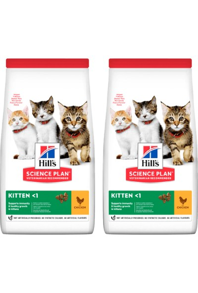 Hill's Science Plan Yavru Kedi Başlangıç Seti: Tavuklu Yavru Kedi Maması 2X300 gr