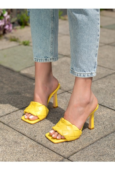 My Poppi Shoes Sarı Kadın Terlik Gustavo
