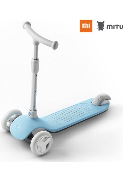 Xiaomi Mitu Işıklı Ayarlanabilir 3 Tekerlekli Scooter Mavi
