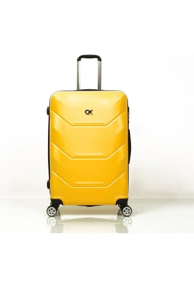 Ox Exclusive 2 Li Sarı Valiz Seti ( Büyük + Orta )