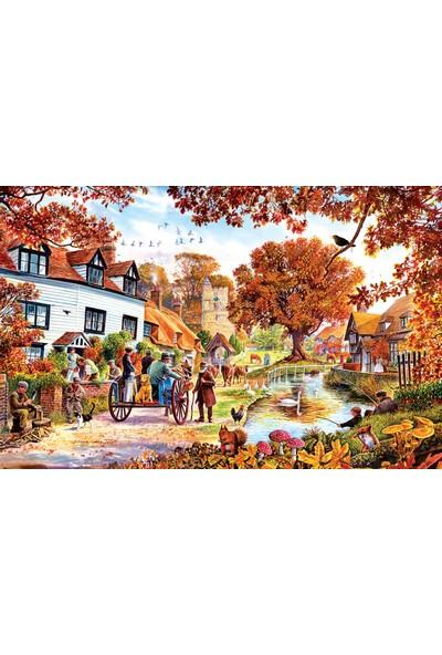 Sunsout Village In Autumn 1000 Parça Puzzle