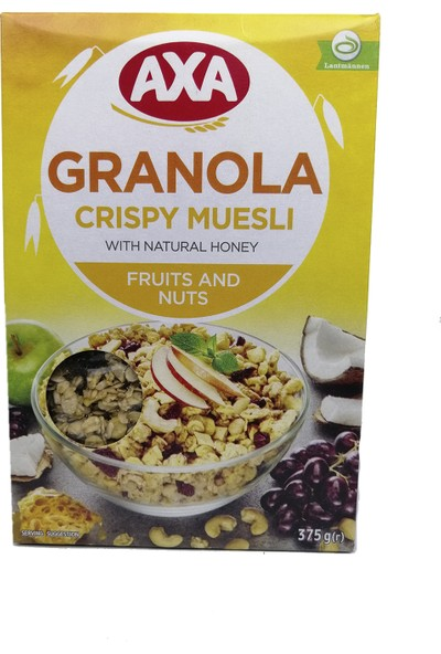 Axa Meyveli ve Yemişli Çıtır Müsli Granola 375 gr