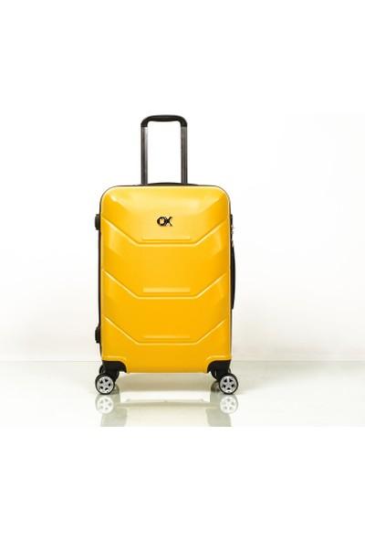 Ox Exclusive 2 Li Sarı Valiz Seti ( Orta + Kabin )