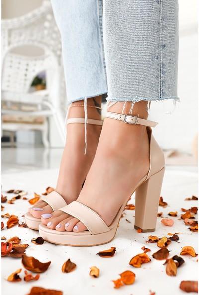 Limoya Ariana Ten Platform Topuklu Tek Bant Ayakkabı