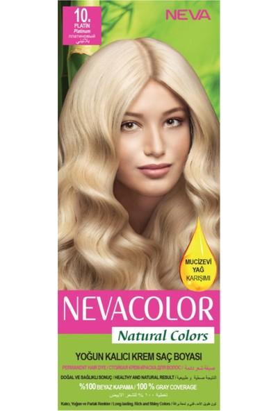 Nevacolor Natural Colors 10 Platin - Kalıcı Krem Saç Boyası Seti
