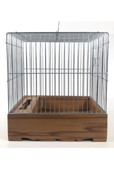 Naturbird Ahşap Tabanlı Tel Kafes