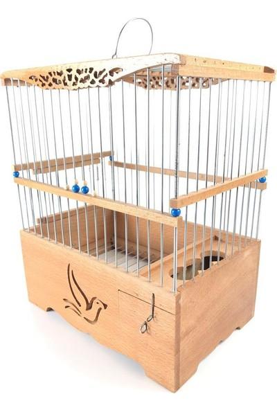 Naturbird Tek Kuş Ahşap Kafes