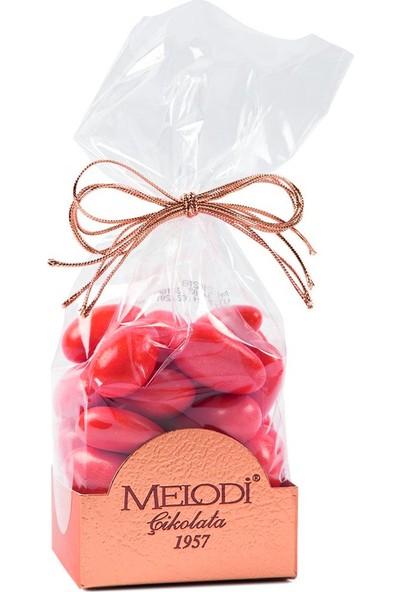 Melodi Çikolata Kırmızı Renkli Badem Şekeri 500 gr