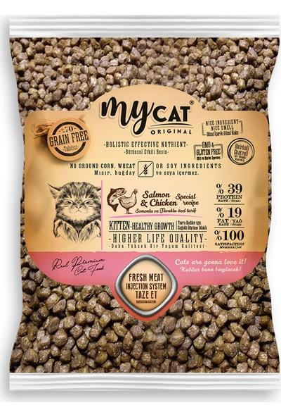 My Cat Tahılsız %70 Somonlu ve Tavuklu (1 Kg) Kıtten-Yavru Kedi Maması