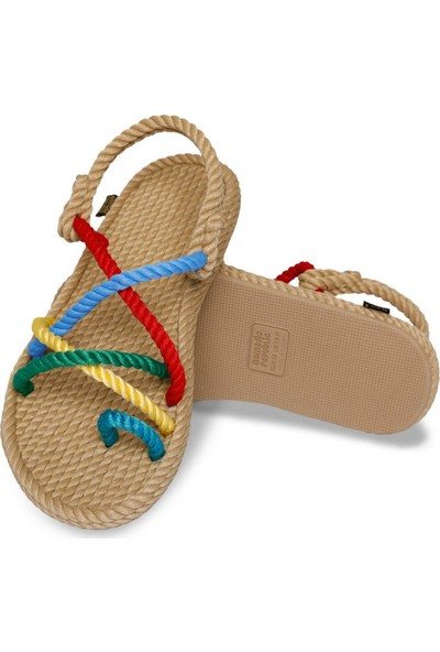 Nomadic Republic Ibiza Kt Çok Renkli Kadın Sandalet