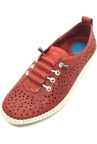 Damien Deri Kadın Günlük Ayakkabı Kırmızı