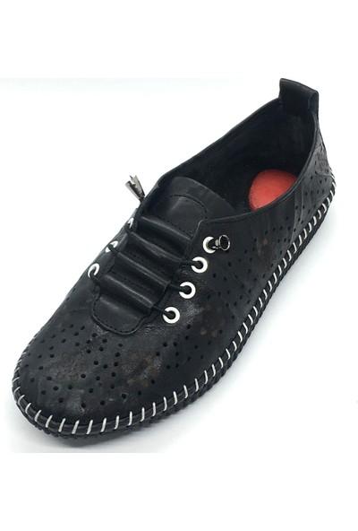 Damien Deri Kadın Günlük Ayakkabı Siyah