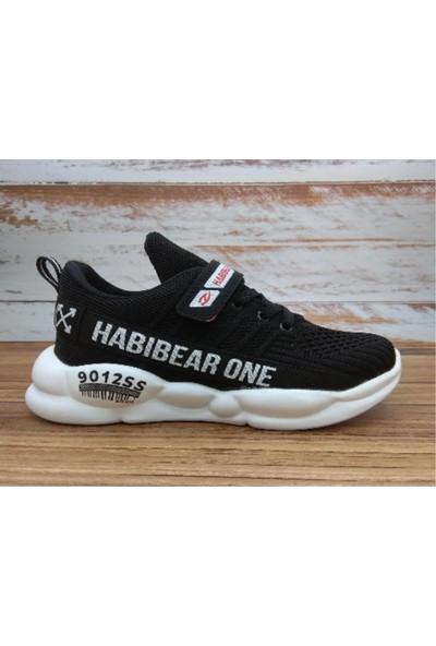Habibear Unisex Çocuk Siyah - Beyaz Spor Ayakkabı
